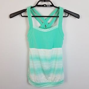 Athleta Womens Sports Tank Top Mint Size XXS NWOT